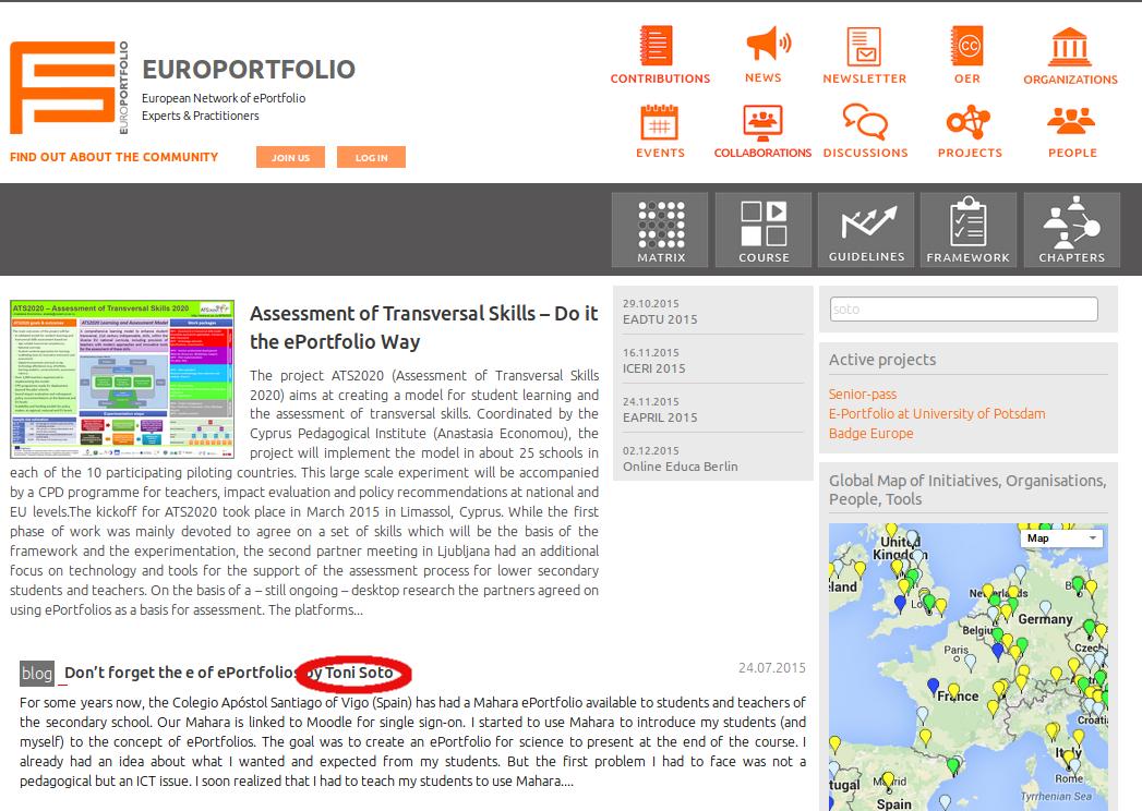 Artículo en la portada de Europortfolio