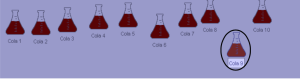 Evidence2: Cropped picture remarked to show the different color of the cola sample number 9